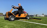Groundsman Keith Ilett and the SISIS Brush Pro