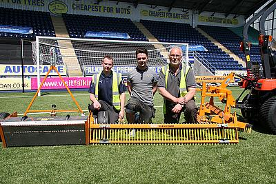 SISIS helps to Maintain Falkirk FC's Synthetic Pitch